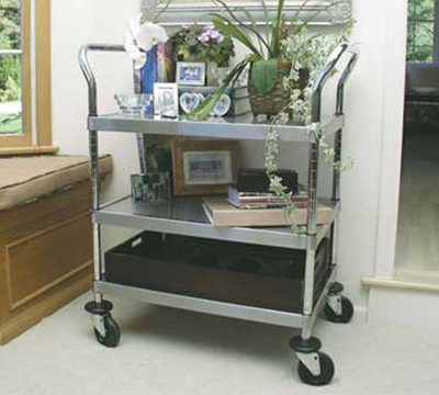 "Advance Tabco UC-3-2433RE Residential Mobile Cart - (3) Shelf, 24x33"", Stainless"