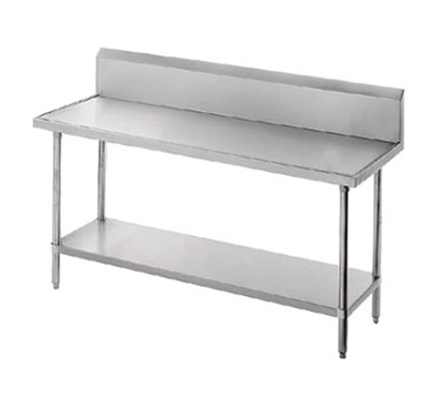 "Advance Tabco VKS-368 96"" Work Table - 10"" Backsplash, Non-Drip Edge, 36"" W, All Stainless"