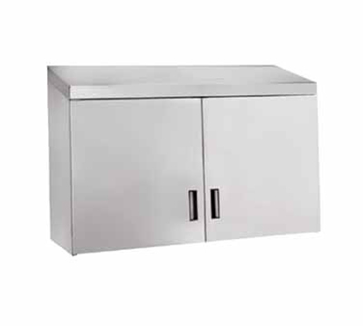 """Advance Tabco WCH-15-60 60"""" Stainless Wall Mount Cabinet - Hinged Doors, Shelf"""