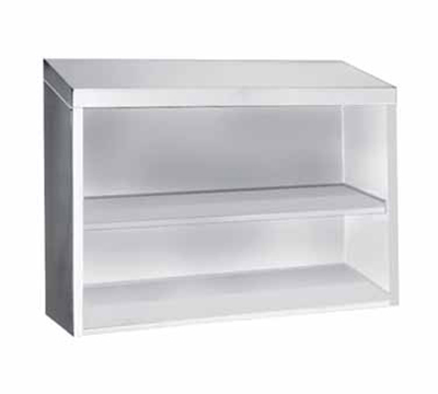 "Advance Tabco WCO-15-36 36"" Stainless Wall Mount Cabinet - Open Front, Shelf"