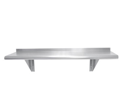 "Advance Tabco WS-12-72 Wall Mount Shelf - 12x72"", 18-ga 430-Stainless"