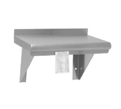 "Advance Tabco WS-12-60CM Wall Mount Shelf with Check Minder - 12x60"", 18-ga 430-Stainless"