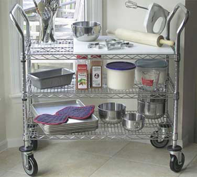 "Advance Tabco WUC-1842PRE Residential Wire Mobile Cart - (3) Shelf, 18x42"","
