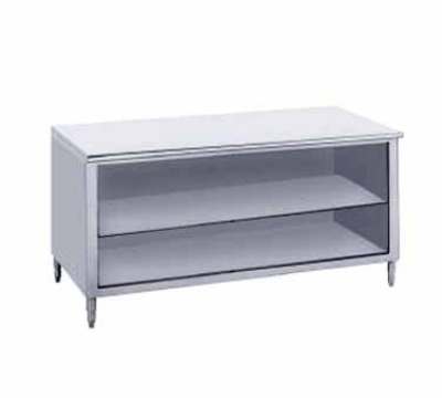 Advance Tabco EB-SS-245M 60-in Work Table Open Cabinet w/ Shelf 24-in Wide Stainless Restaurant Supply