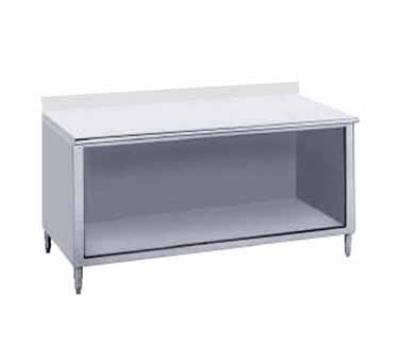 Advance Tabco EK-SS-3610 Work Table 36 x 120 in Open Cabinet Base 5 in Backsplash 14/304 SS Restaurant Supply