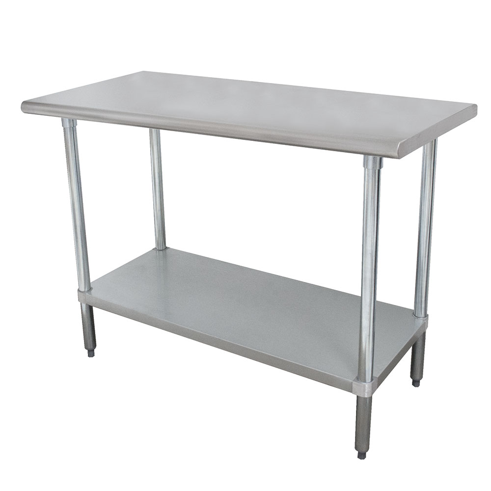 Advance Tabco ELAG-308 Work Table w/ Galvanized Frame & Shelf, 30x96-in, 16-ga 430-Stainless
