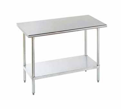Advance Tabco ELAG-243-X 36-in Wideork Table w/ 18-Gauge Stainless Top 24-in Wide Restaurant Supply