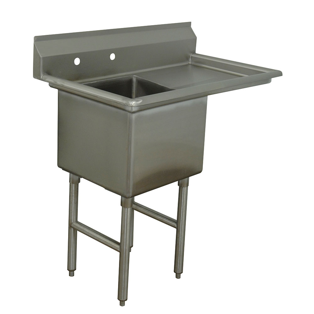 """Advance Tabco FC-1-1620-18R Fabricated Sink - 18"""" Right Drainboard, 16x20x14"""" Bowl, Stainless Steel, LR"""