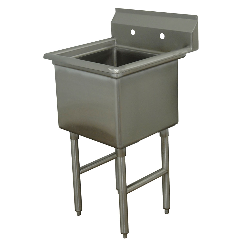 "Advance Tabco FC-1-1620 Fabricated Sink - 16x20x14"" Bowl, 1-Comparement, Stainless Steel LR"