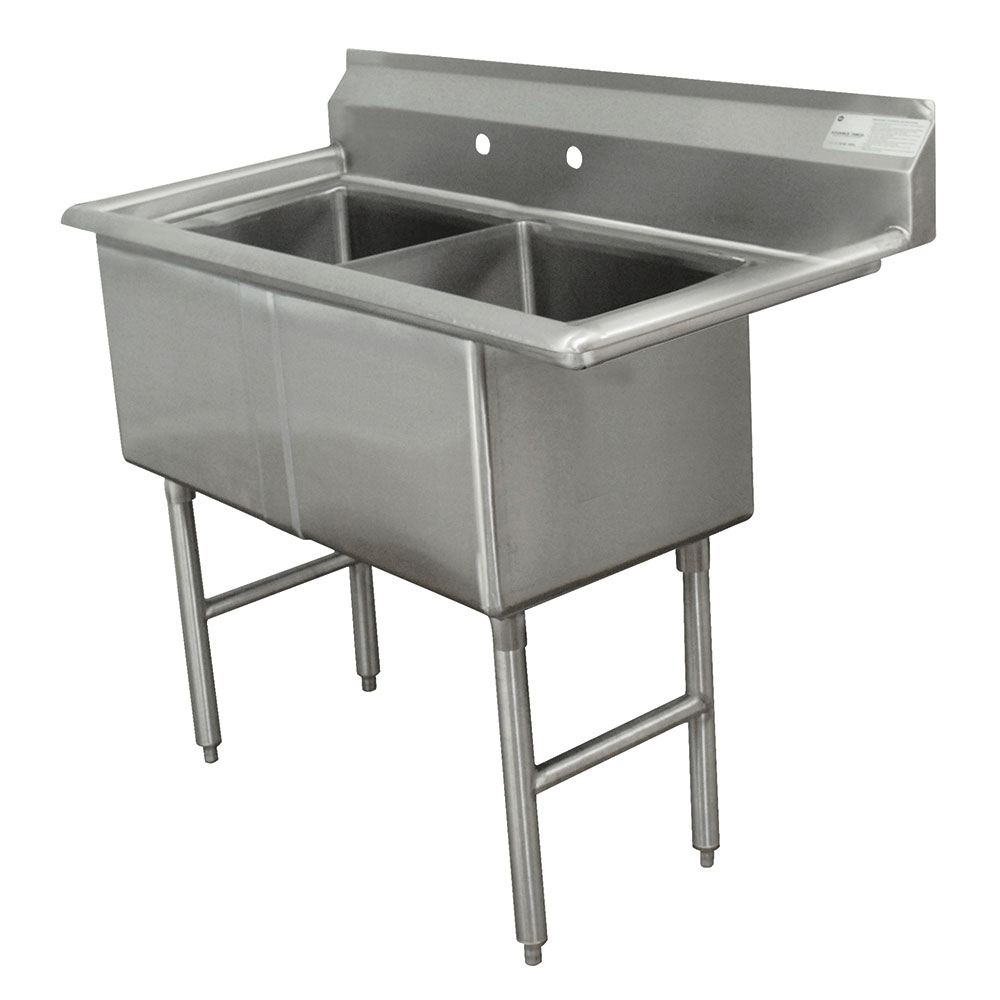 Advance Tabco FC-2-1620 Fabricated Sink - (2)1