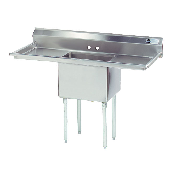 "Advance Tabco FE-1-1812-18RL Fabricated Sink - 18"" Right-Left Drainboard,"