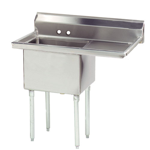 "Advance Tabco FE-1-1824-24R Fabricated Sink - 24"" Right Drainboard, 1-Bow"