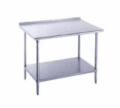 Advance Tabco FMG-304 48-in Work Table 16-Ga. Stainless Top w/ 1.5-in Splash 30-in W Restaurant Supply