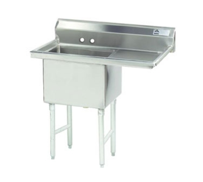 Advance Tabco FS-1-1824-24R NSF Sink 1 Compartment 14/304 SS 24 in Right Drainboard 18 in x 24 in Restaurant Supply