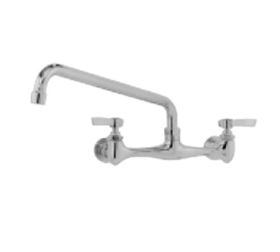 "Advance Tabco K-101 Splash Mount Faucet - 8"" Swing Spout, 8"" On-Center"