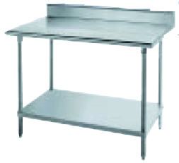 Advance Tabco KLAG-302 24 in  Work Table, 30 in D, SS Top, 5 in Backsplash, 35-1/2 in H