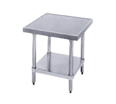 Advance Tabco MT-GL-242 Equipment Stand 24 x 24 24 in High S/S Top Galvanized Legs and Undershelf Restaurant Supply