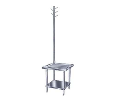 Advance Tabco MX-SS-300 Equipment Stand 30 x 30 24 in H S/S Top Legs and Undershelf Utensil Rack Restaurant Supply