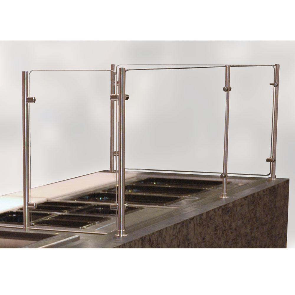 "Advance Tabco SGCC-48 48"" Vertical Food Shield - Tempered Glass"