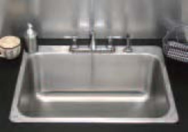 Advance Tabco SS-1-1919-10RE Residential Drop-In Sink - (1) 16x14x10&qu
