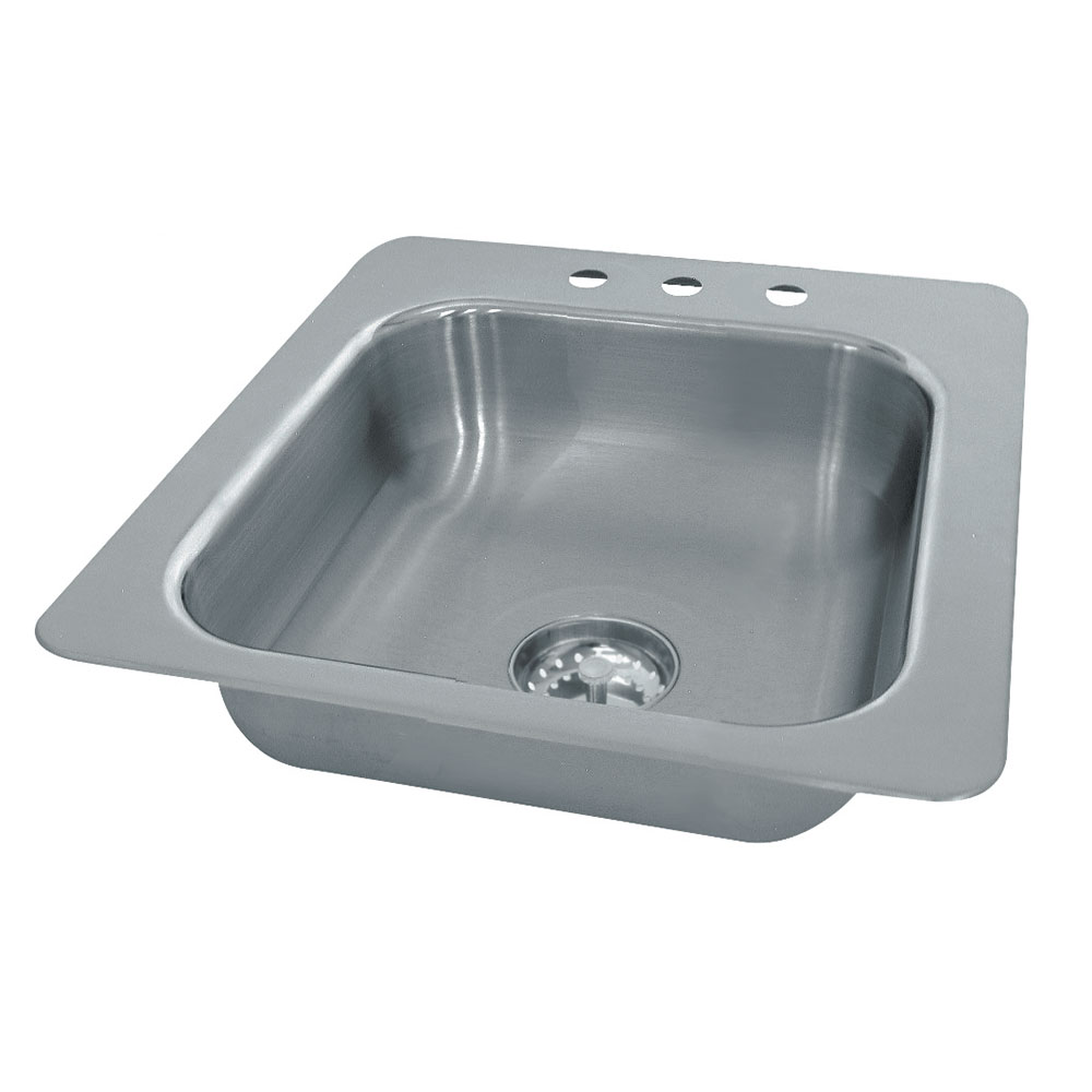 Advance Tabco SS-1-1715-10 Smart Series Drop In Sink 1 Compartment 18 Gauge 14 in W 10 in Deep Restaurant Supply