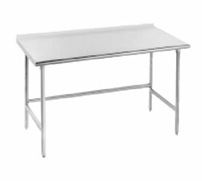 Advance Tabco TSFG-2411 24 x 132 in L Work Table 1-1/2 in Splash Restaurant Supply