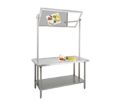Stainless Steel Flat Top Work Table W Undershelf And