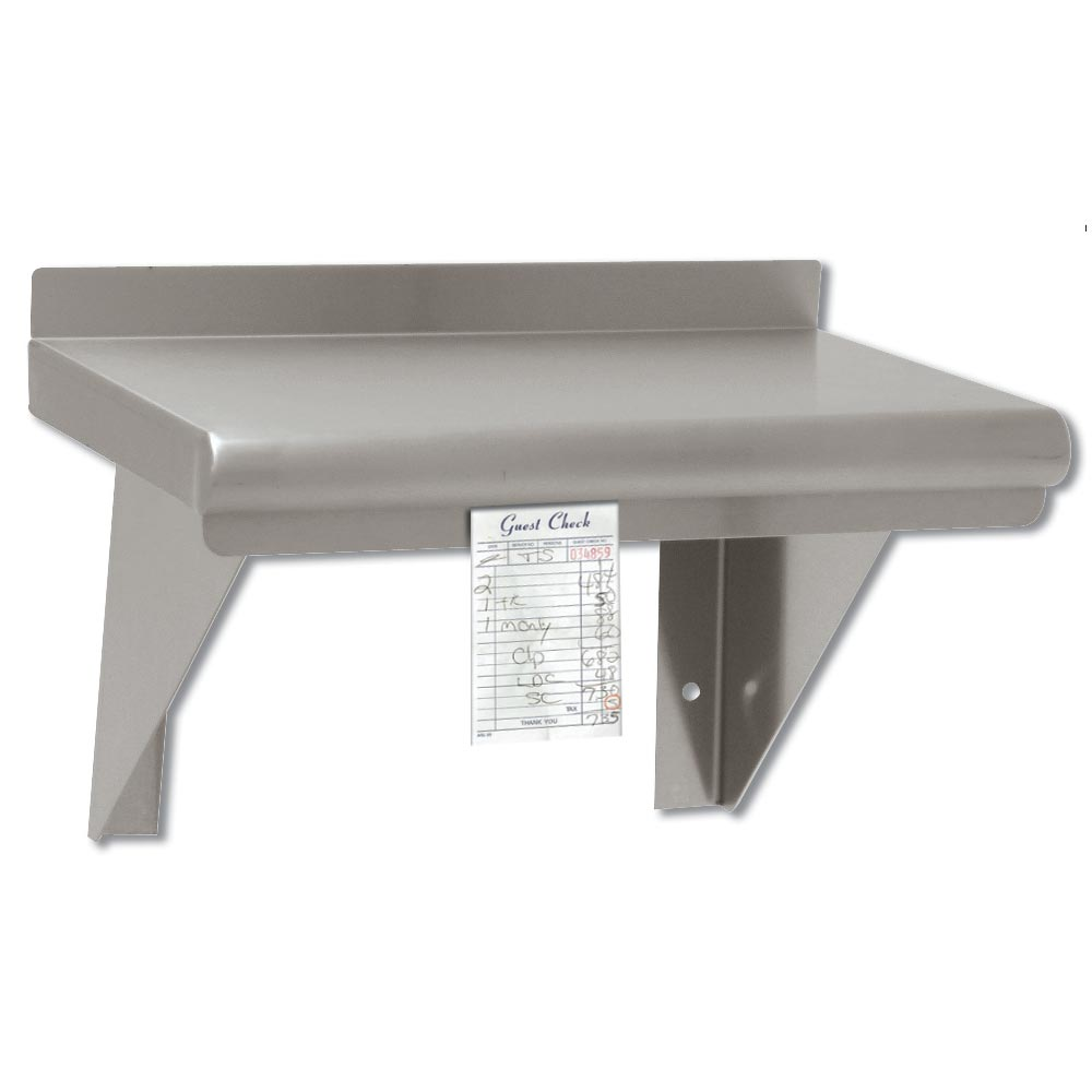 Advance Tabco WS-12-96CM-X Shelf Wall Mount Check Minder SS Restaurant Supply