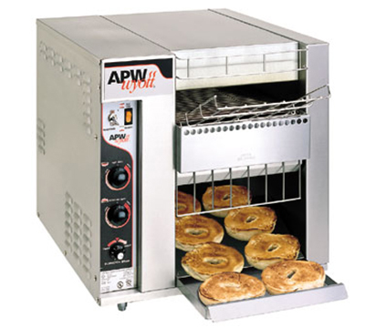 APW Wyott BT-15-2 BagelMaster Conveyor Toaster, 1440 Halves/Hr, 2 In Opening, 208 V, UL