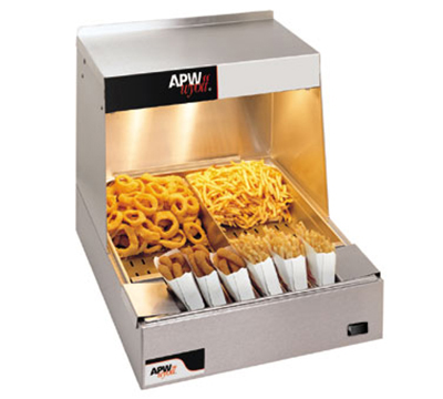 APW Wyott CFHS-21 21 in Fry Station, Ceramic Top Heaters, (2) Coated Bulbs, 120 V