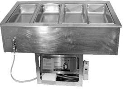 APW Wyott CHDT-6 Cold/Hot Dual Temp Well Holds 6 Standard Pans Heavy Duty Stainless UL Restaurant Supply