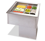 APW Wyott CW-3 3-Pan Insulated Cold Food Unit, Drop-In, Refrigerated, 120 V