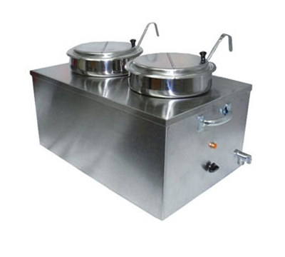 APW Wyott CWM-2SP Food Cooker Warmer, Full Size, Double Bowl, 22 Qt., Soup Pack