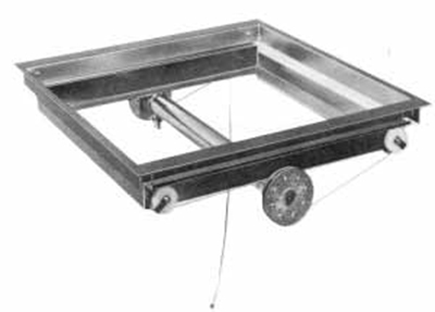 APW Wyott DI-2020 Drop In Tray Dispenser, For 20 x 20 in Trays, Stainless