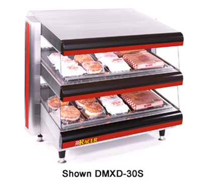 APW Wyott DMXD-30S 30-in Slanted Merchandiser Warmer, 2-Shelves, 120 V