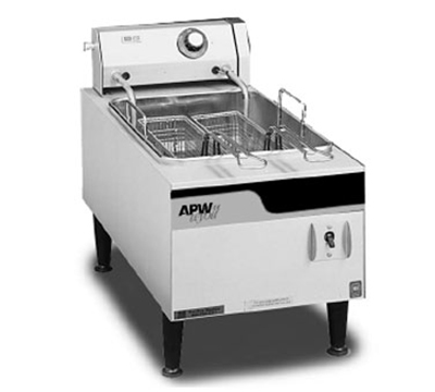 "APW Wyott EF-15IN 12"" Countertop Fryer - Single Fry Pot, 15-lb Fat Capacity, Stainless, 240v"