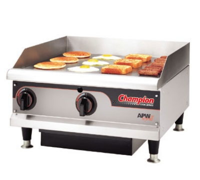 APW Wyott EG-24H 208 24 in Griddle w/ 3/4 in Steel Plate & Thermostatic Control 208 V Restaurant Supply