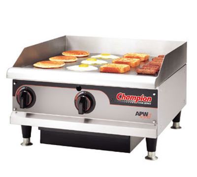 "APW Wyott EG-36I 36"" Griddle - 1"" Steel Plate, Thermostatic Control, 208v"