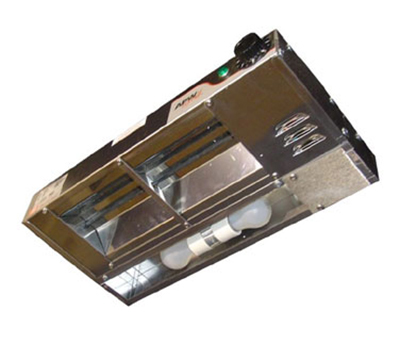 APW Wyott FDL-24L-I 120 24 in Heat Lamp Single Rod 430 Low Watt Infinite Control 120 V Restaurant Supply