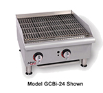 "APW Wyott GCB-36I 36"" Countertop Radiant Charbroiler - Cast Iron Grate, 120,000-BTU, NG"