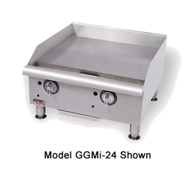 "APW Wyott GGM-18I 18"" Countertop Griddle - 1"" Steel Plate, Manual Control, LP"