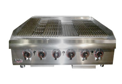 APW Wyott HCB-2448 48-in Radiant Char-Broiler w/ Cast Iron Grates, NG