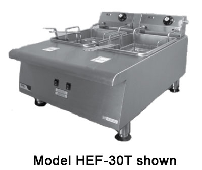 APW HEF-15 Counter Model Heavy Duty Fryer 15 lb. Fat Capacity Restaurant Supply