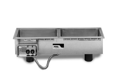 APW Wyott HFWS-2D Drop-In Hot Food Well Unit w/ Drain, 2-Pan Size, Slim Line, 208/240/1 V