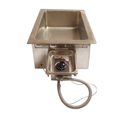 APW Wyott HFW-1D Drop-In Insulated Hot Food Well Unit, Wet or Dry, Drain, 208 V