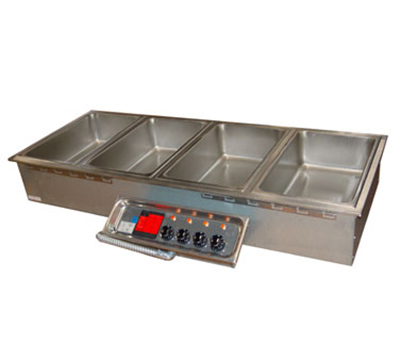 APW Wyott HFW-4D Drop-In Hot Food Well Unit w/ Drain & Manifold, 4-Pan Size, 208/240/1 V