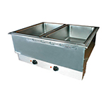 APW Wyott HFWAT-2 Drop-In Hot Food Well Unit, Wet or Dry, (2) 12 x 20 in Pans, 120 V