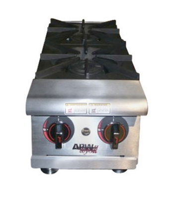 APW Wyott HHPS-212 2-Burner Step-Up Hot Plate w/ Thermostatic Controls, NG
