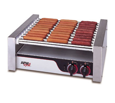 APW Wyott HR-20 20 Hot Dog Roller Grill - Flat Top, 120v