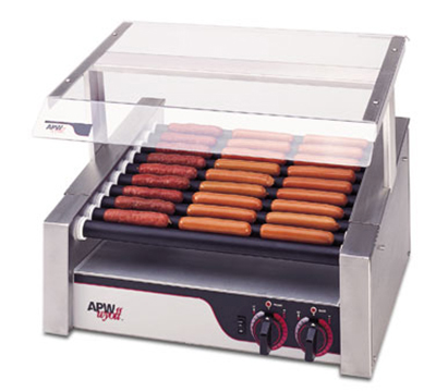 APW Wyott HRS-31S 30 Hot Dog Roller Grill - Slanted Top, 120v